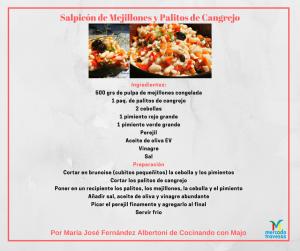 Salpicón de Mejillones y Palitos de Cangrejo